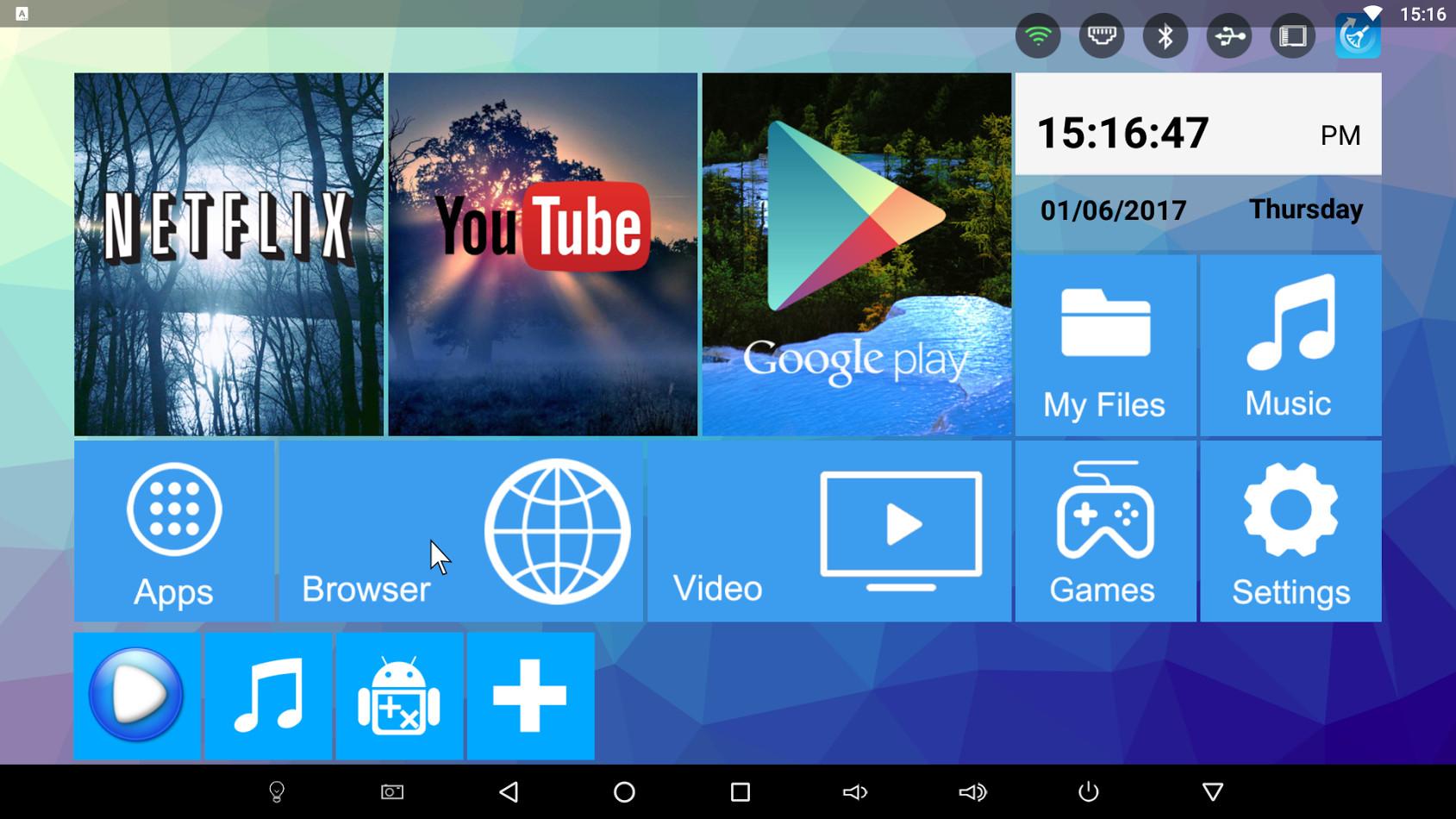 Интерфейс Android приставки H96 Pro