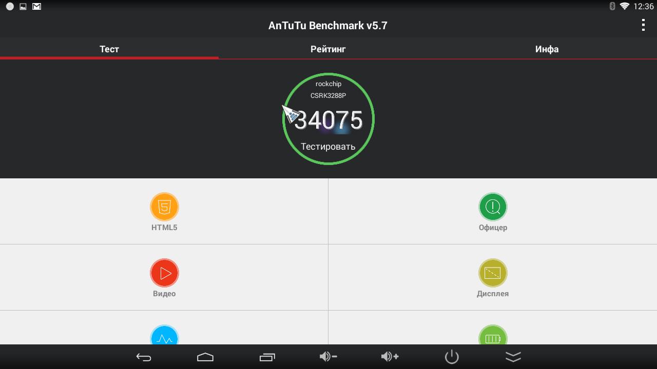 Показатели AnTuTu Benchmark приставки на Android CS918 Plus