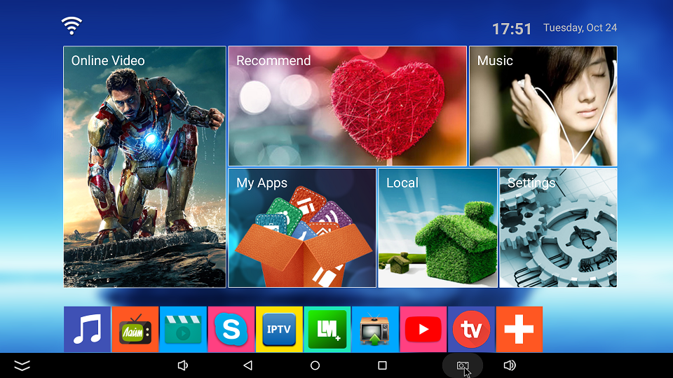 Интерфейс Android приставки SCISHION V99 Hero