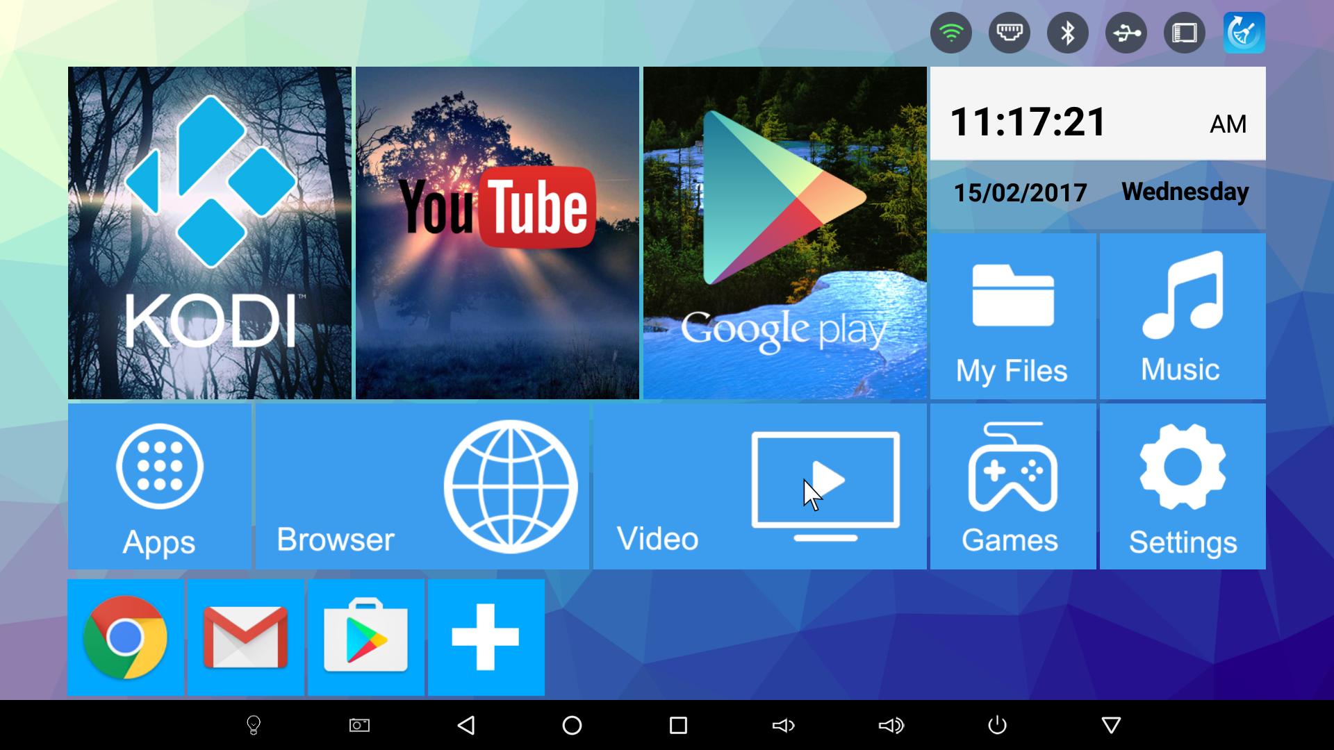 Интерфейс Android приставки R-BOX Pro Amlogic S912