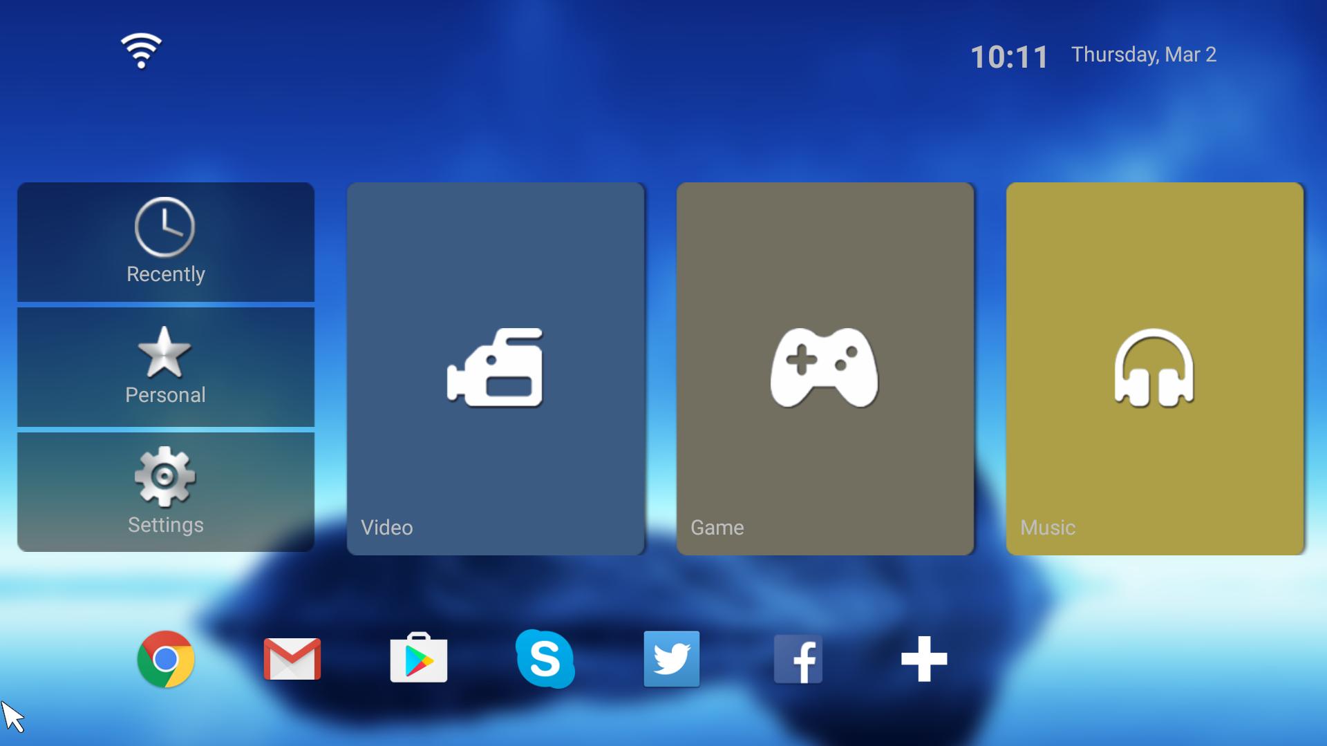 Интерфейс Android приставки Enybox X1 Amlogic S905X