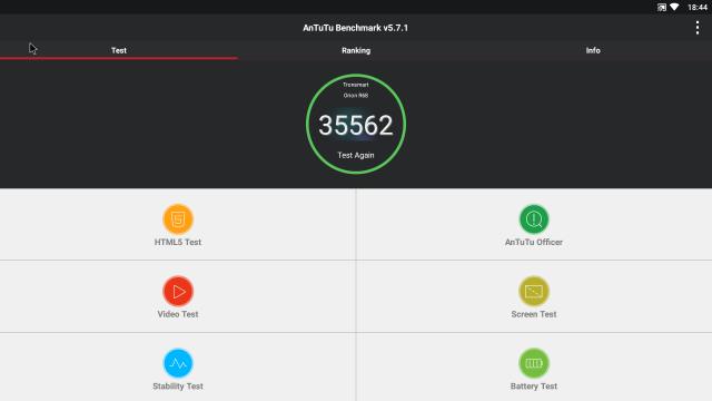 Показатели AnTuTu benchmark на приставке Tronsmart Orion R68 с оптимизированной прошивкой от CitySmartTV